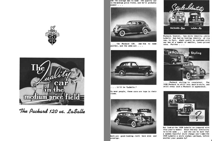 Packard 1939 - The Quality Car in the Medium Price Field - The Packard 120 vs. LaSalle