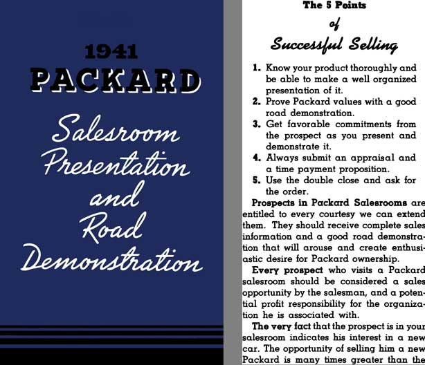 Packard 1941 -  1941 Packard Salesroom Presentation and Road Demonstration