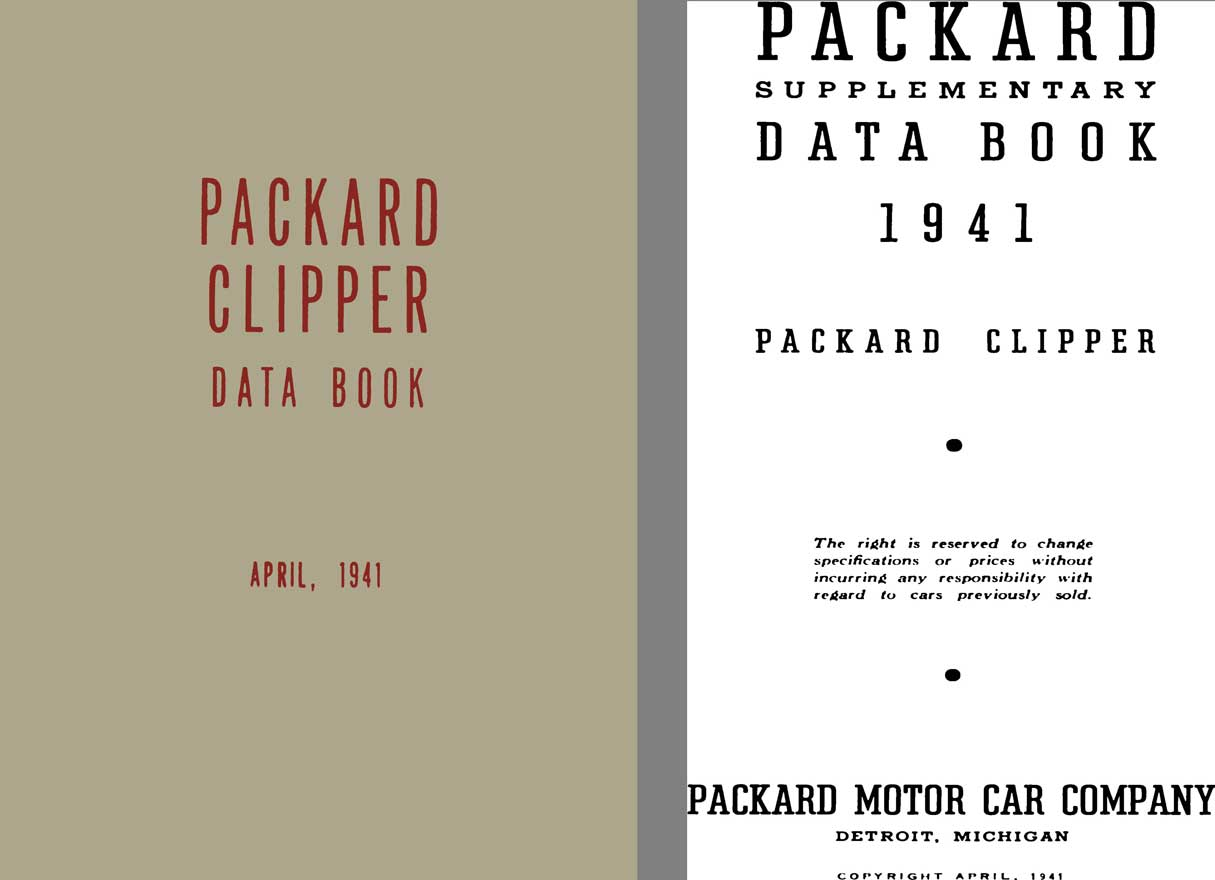 Packard 1941 - Packard Clipper Data Book - April 1941
