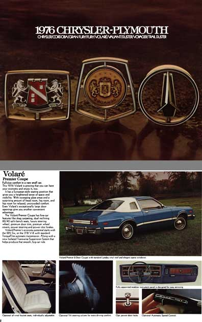 Plymouth 1976 - 1976 Chysler-Plymouth - Chrysler, Cordoba, Grand Fury, Fury, Volare, Valiant, Duster