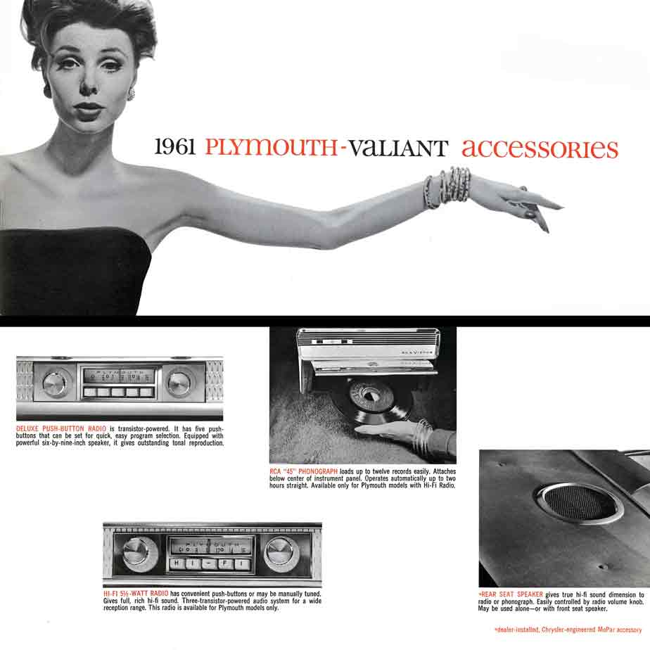 Plymouth Valiant Accessories 1961 - 1961 Plymouth Valiant Accessories