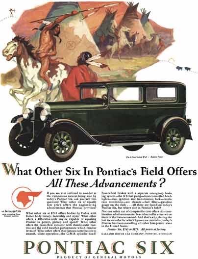 Pontiac 1928 - Pontiac Ad - What Other Six In Pontiac's Field Offers All Theses Advancements?