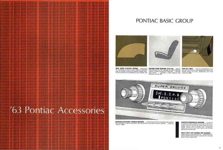 Pontiac Accessories 1963 - '63 Pontiac Accessories