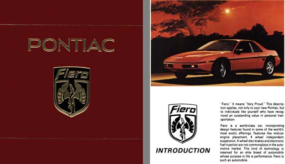 Fiero Pontiac 1984 - Pontiac Fiero 2M4 - DIY Service Procedures