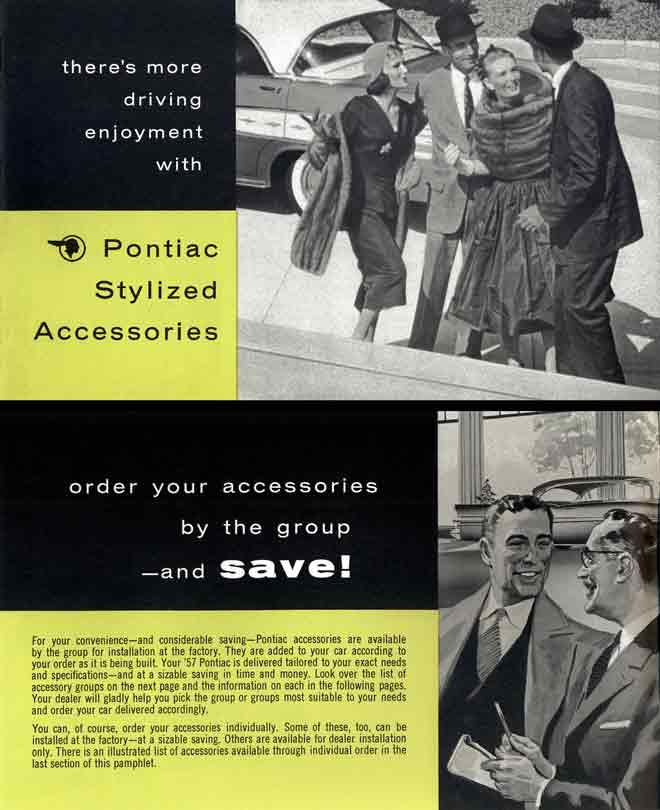 Pontiac Stylized Accessories 1957 - there's more driving enjoyment with