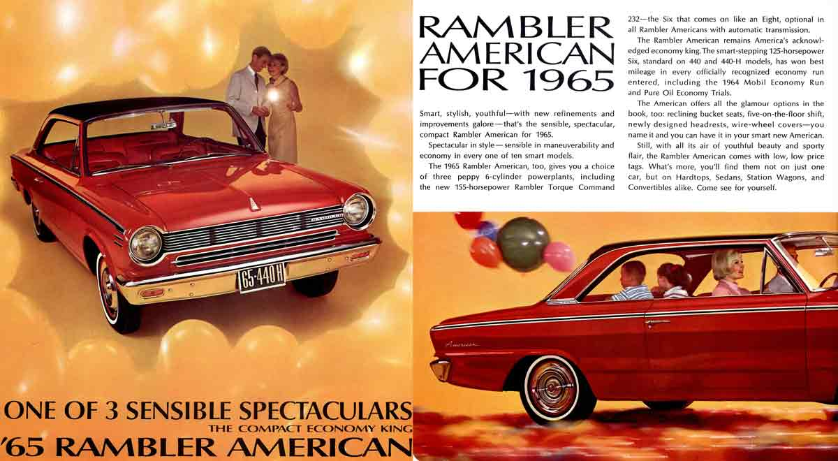 American Rambler 1965 - One of 3 Sensible Spectaculars - the compact economy king - '65 Rambler