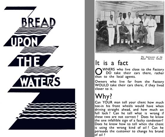Rover 1931 - Bread Upon The Waters