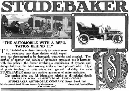 Studebaker c1929 - Studebaker Ad - The Automobile with a Reputation Behind It!