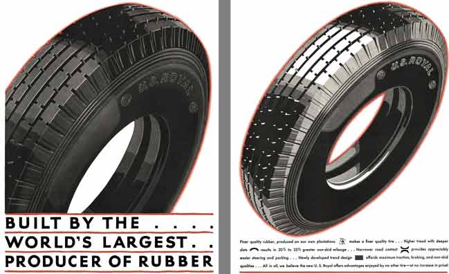 US Royal Tire 1929 - US Royal Tire Ad - Built by the …. World's Largest.. Producer of Rubber