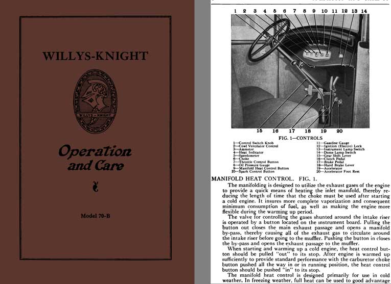 Willys-Knight 1929 - Willys-Knight Operation and Care Model 70-B
